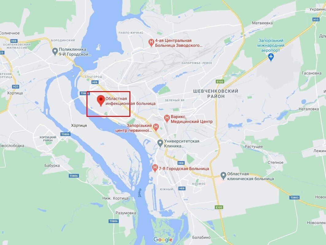 В Запорожье произошел пожар в областной инфекционной больнице.