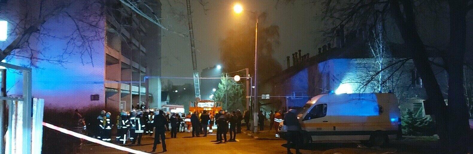 Пожар в областной инфекционной больнице Запорожья.