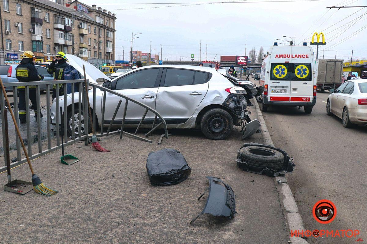 Авария на Слобожанском проспекте.