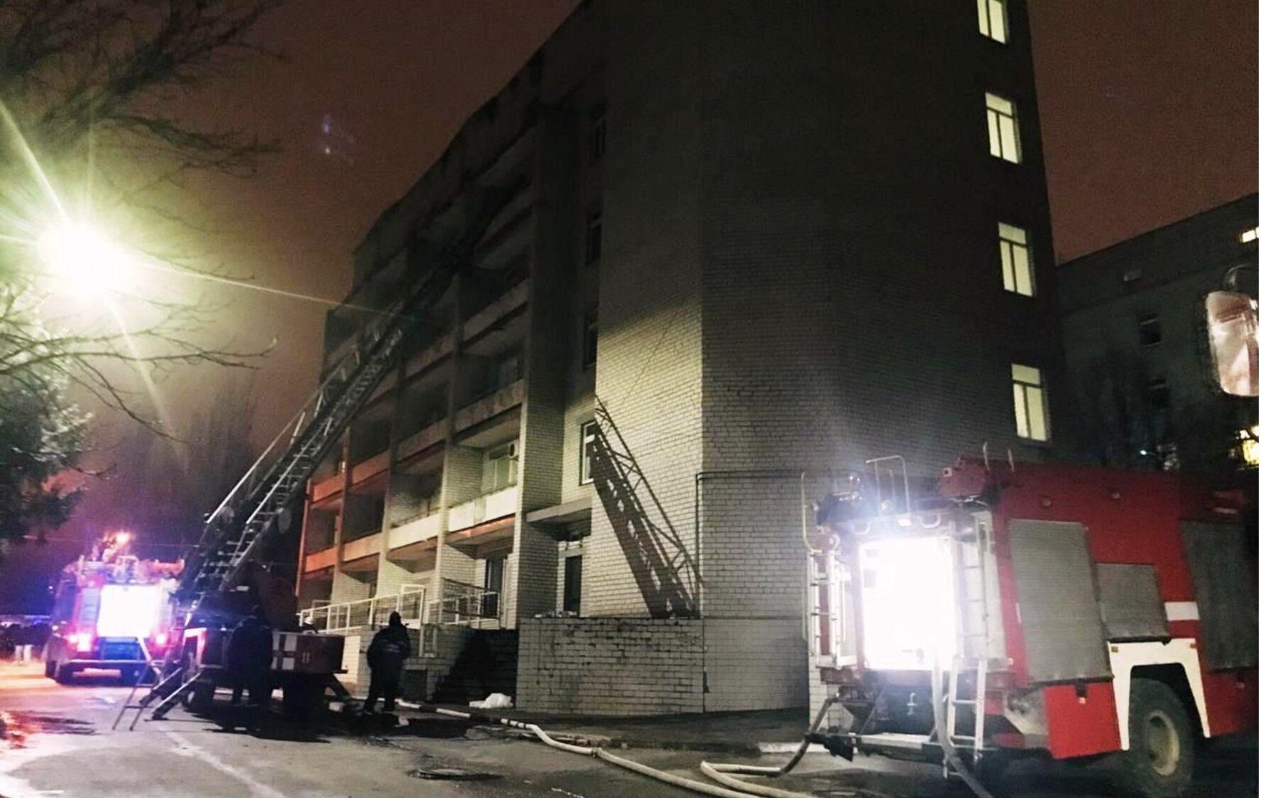 Пожежа в Запорізькій обласній інфекційній лікарні.