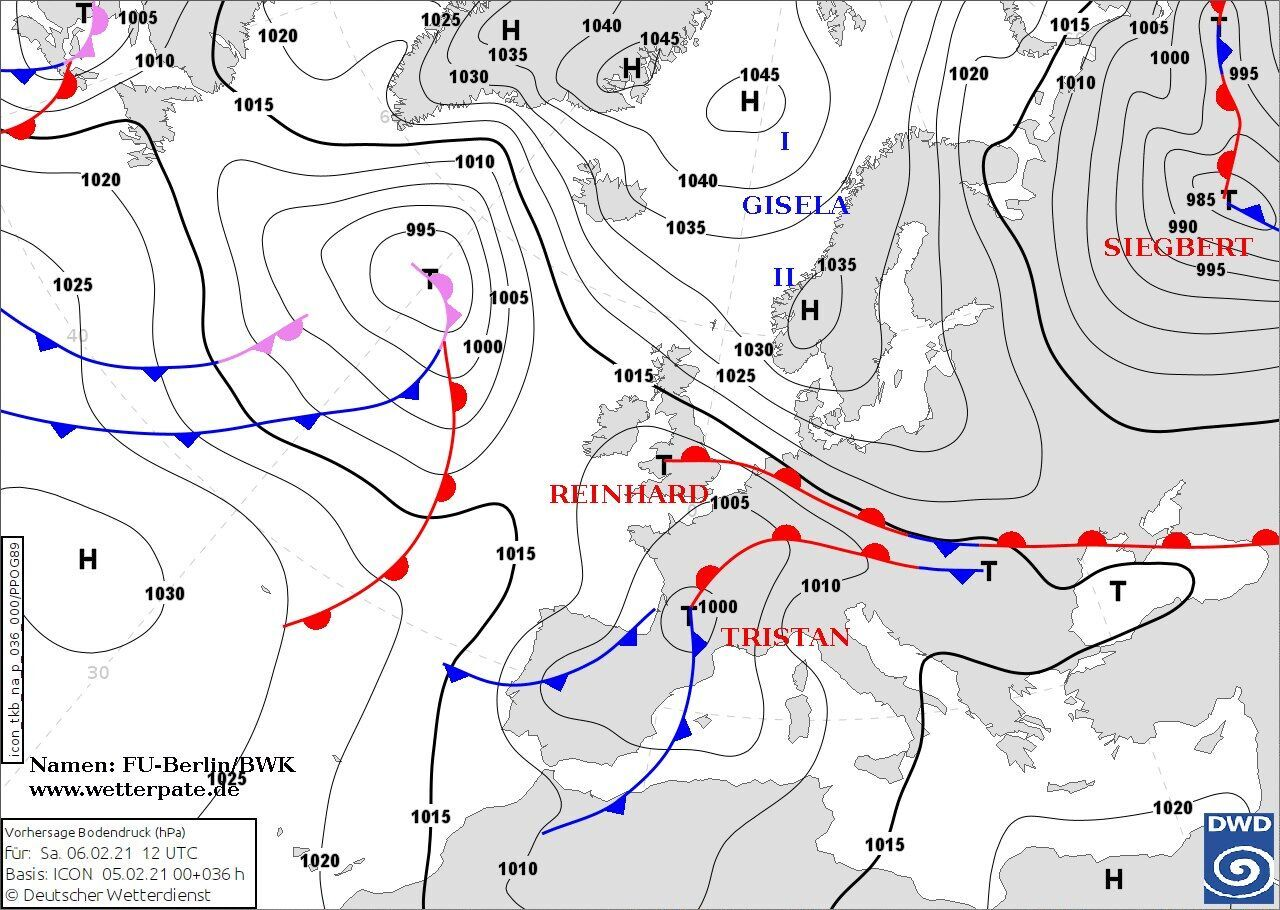 Антициклон Gizela 6-7 февраля обусловит преимущественно сухую погоду в Украине, но местами будет идти снег