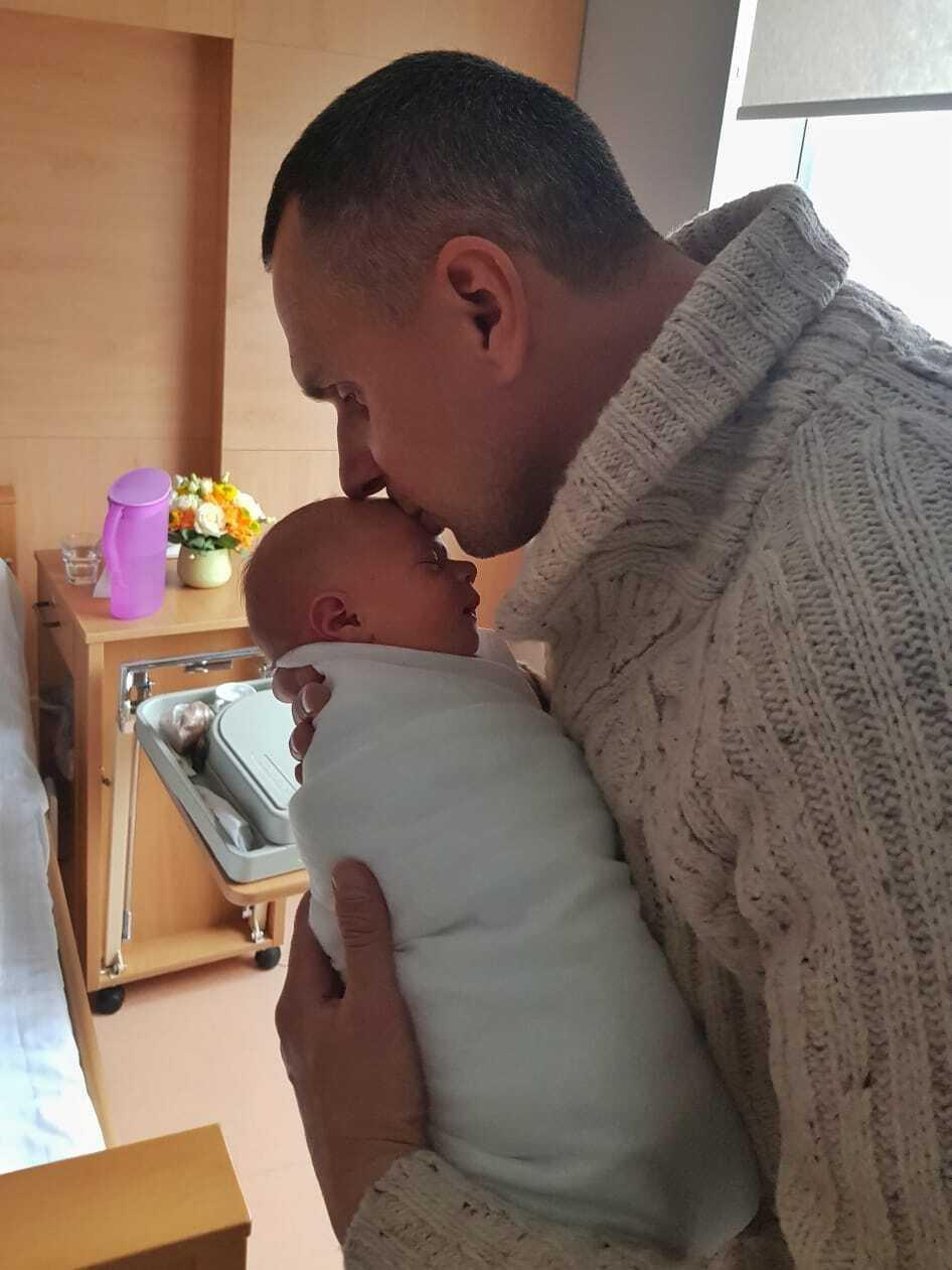 Сенцов із донькою