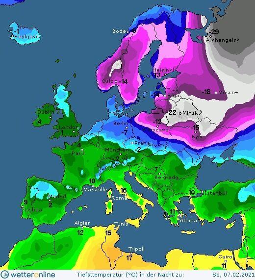 Погода 6-7 февраля в Украине будет морозной