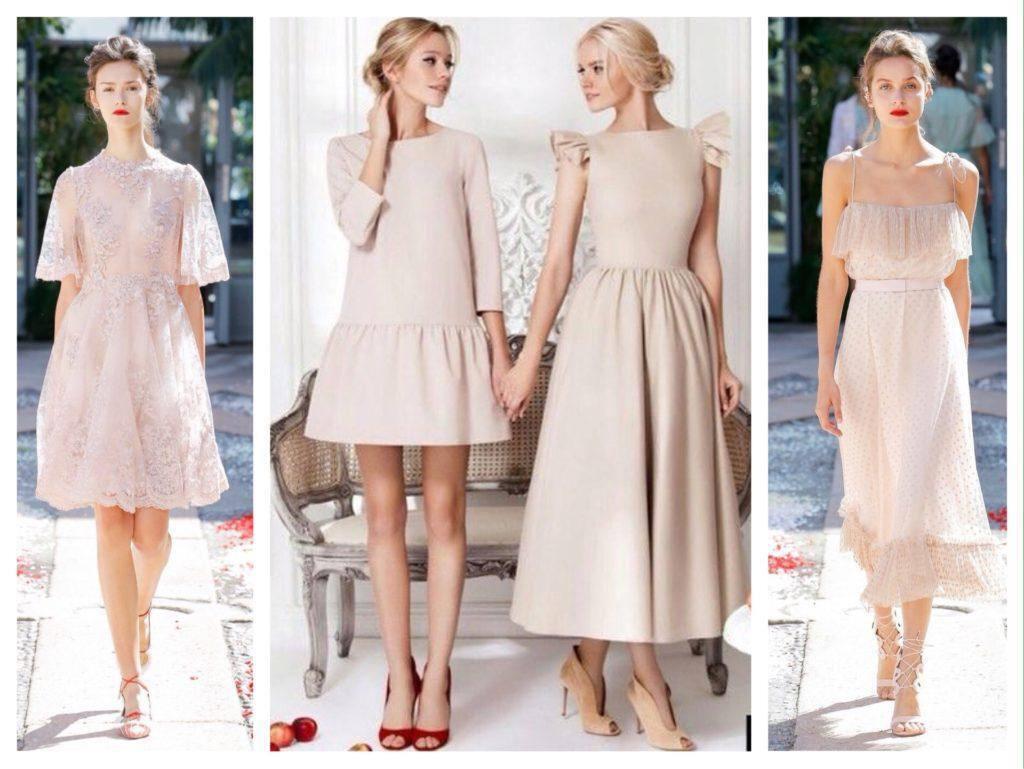 Нежные платья пастельных оттенков стоит надеть в день влюбленных.