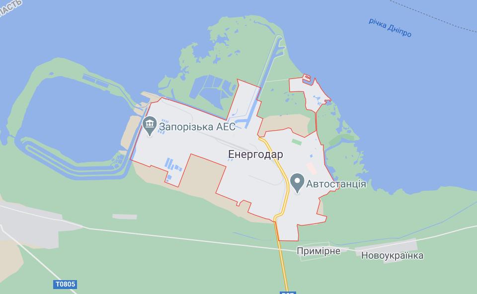 Город Энергодар, где произошло ДТП.