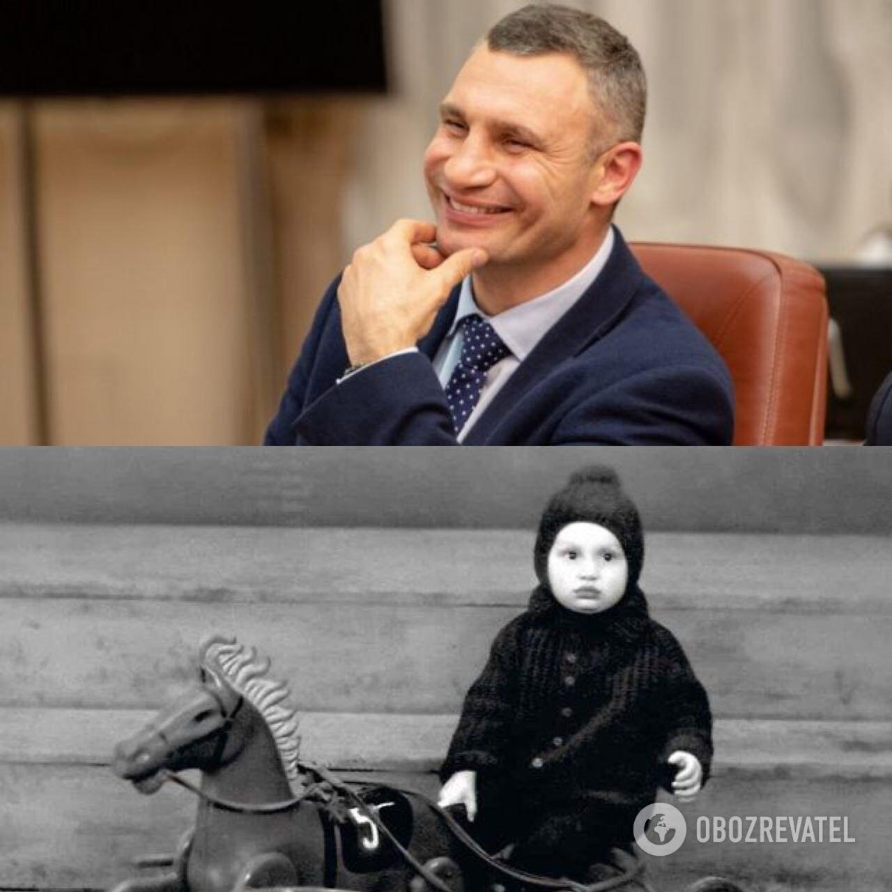 Виталий Кличко: в детстве и сейчас.