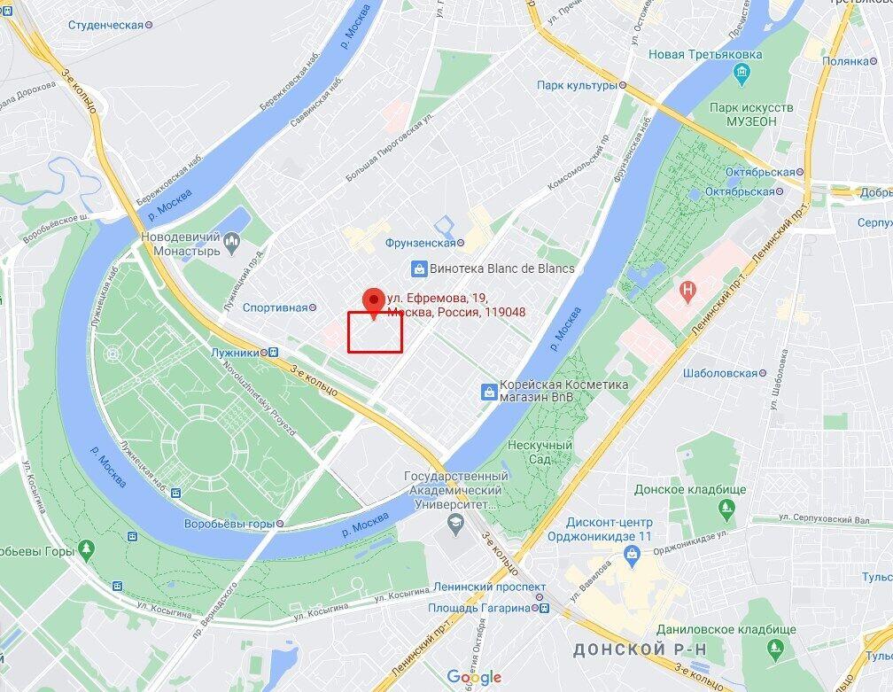 Расположение комплекса в Москве.