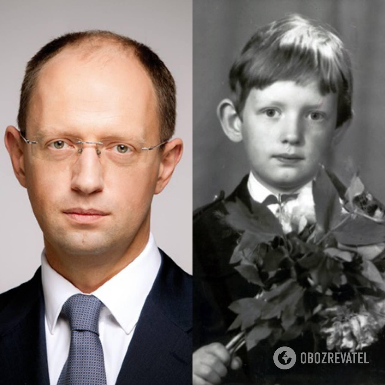 Арсений Яценюк: в детстве и сейчас.