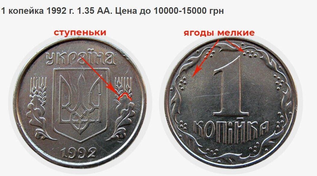 Монета за тысячи гривен