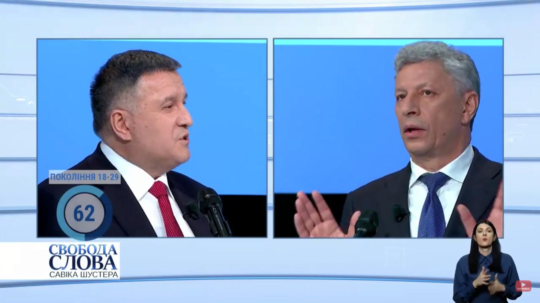 Арсен Аваков і Юрій Бойко
