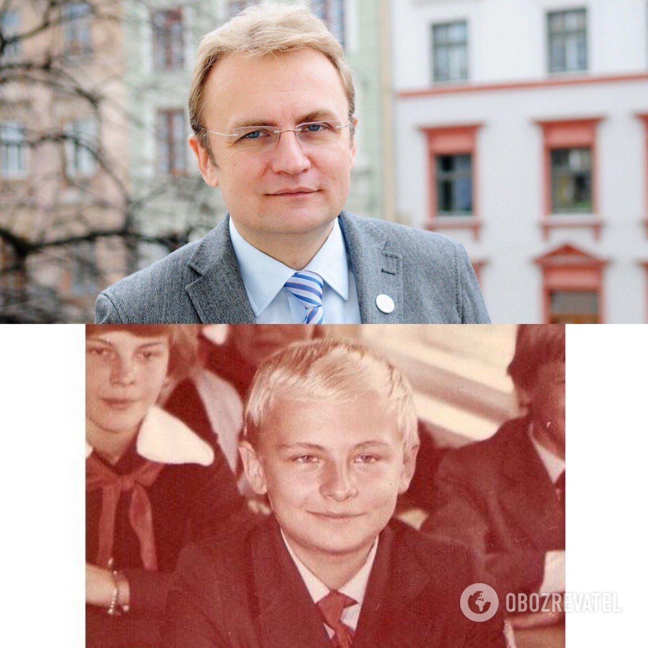 Андрей Садовой: в детстве и сейчас.