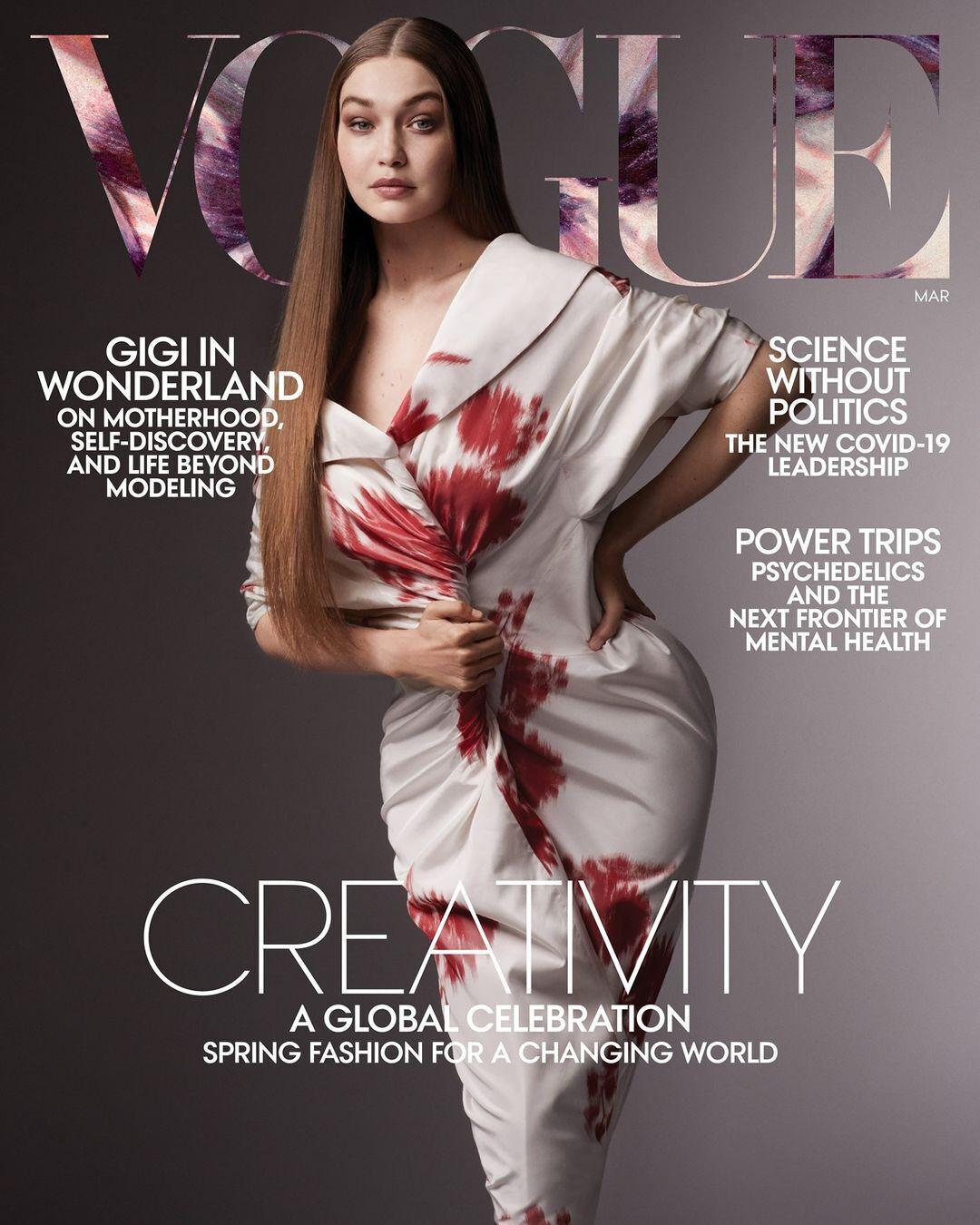Джиджи Хадид на обложке Vogue.
