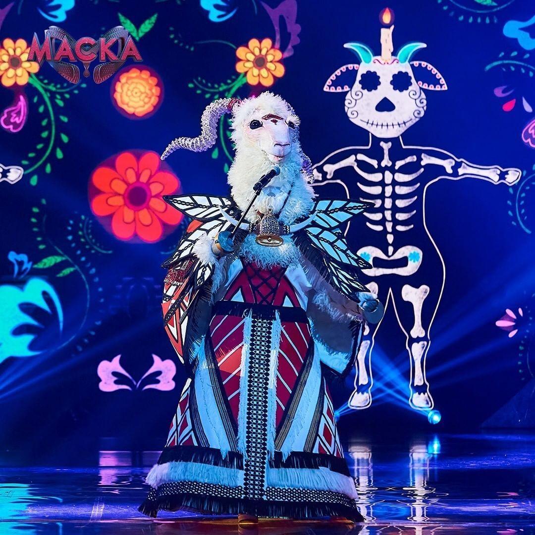 Участник в образе Козы на шоу