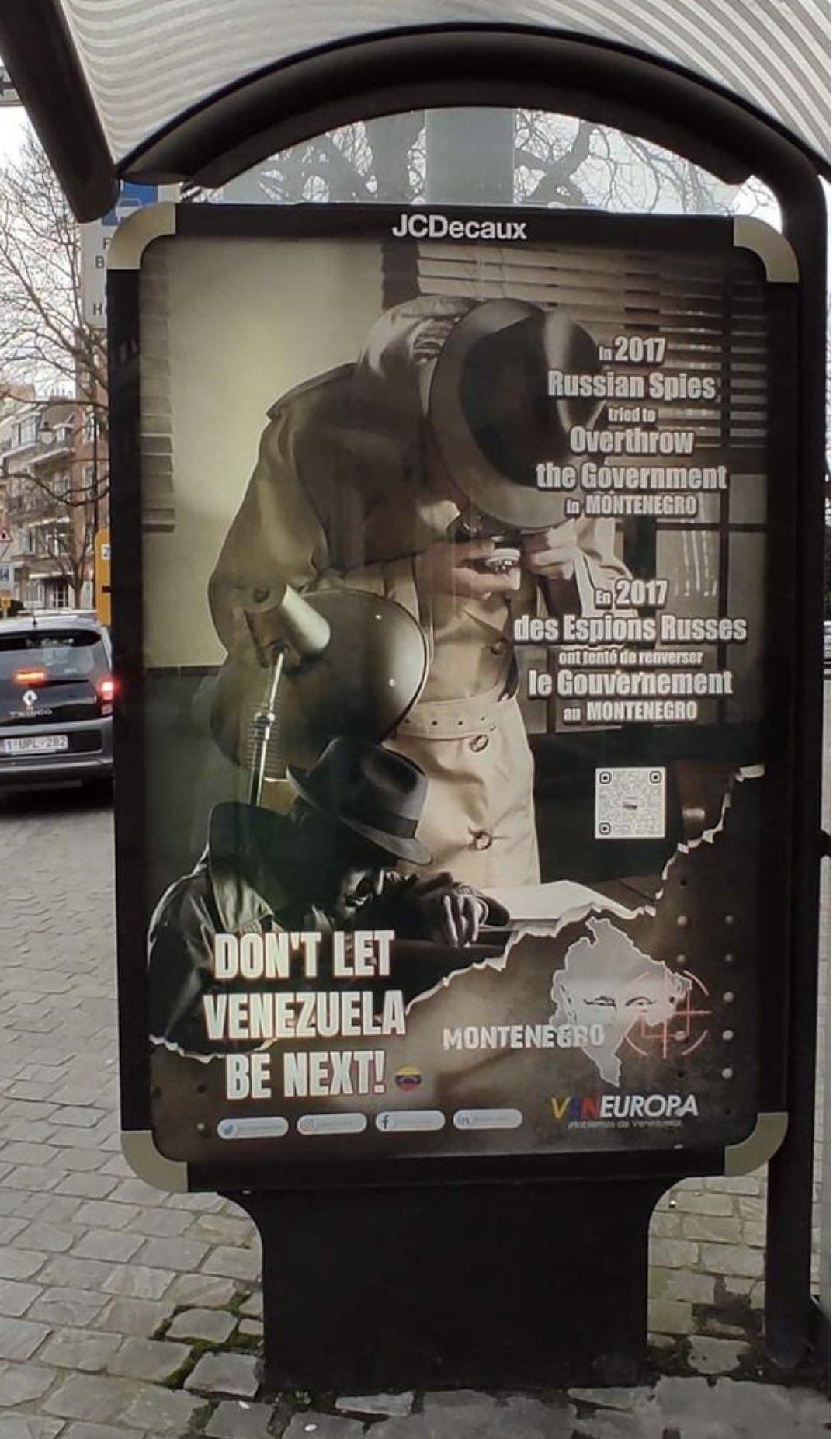 Антироссийский плакат в Брюсселе