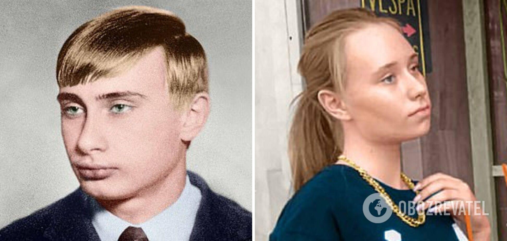 Владимир Путин в молодости и Елизавета Кривоногих
