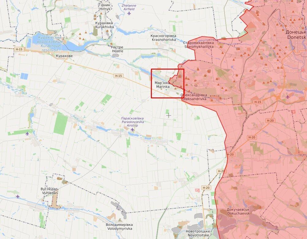 Троє військових підірвалися в районі Мар'їнки.