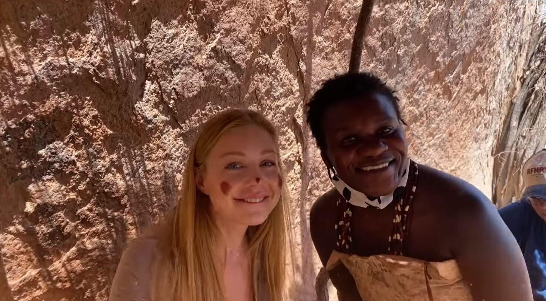 Тина Кароль познакомилась с культурой Намибии.