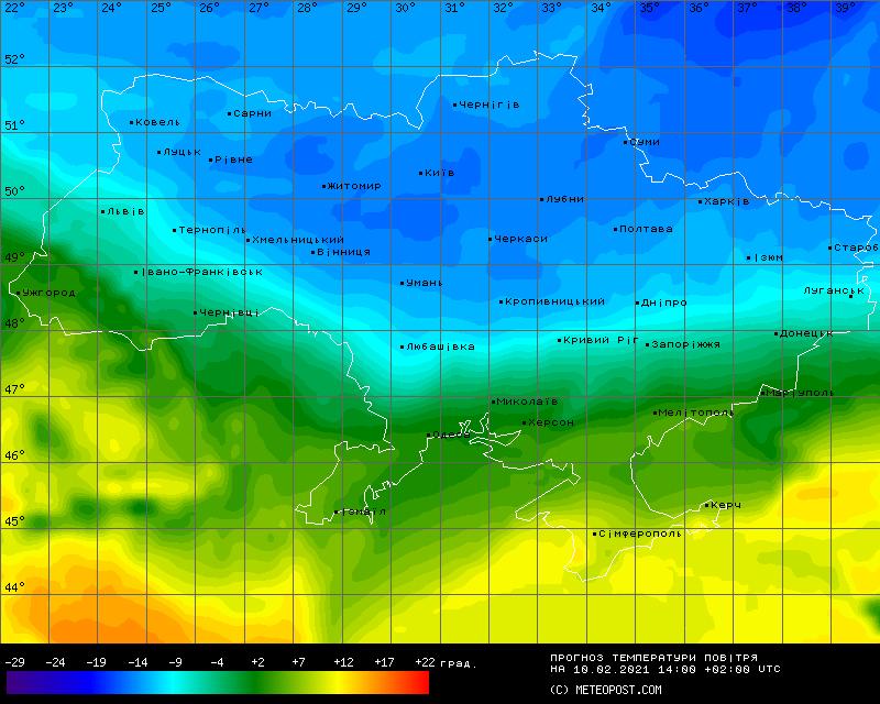Данные по атмосферному давлению и осадках в Украине
