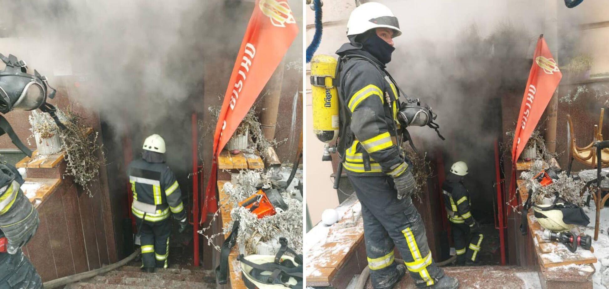"Пожар случился в кафе ""Бистро"""