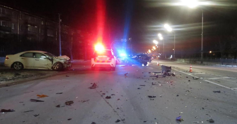 Honda Accord протаранил Chevrolet Lacetti в Броварах