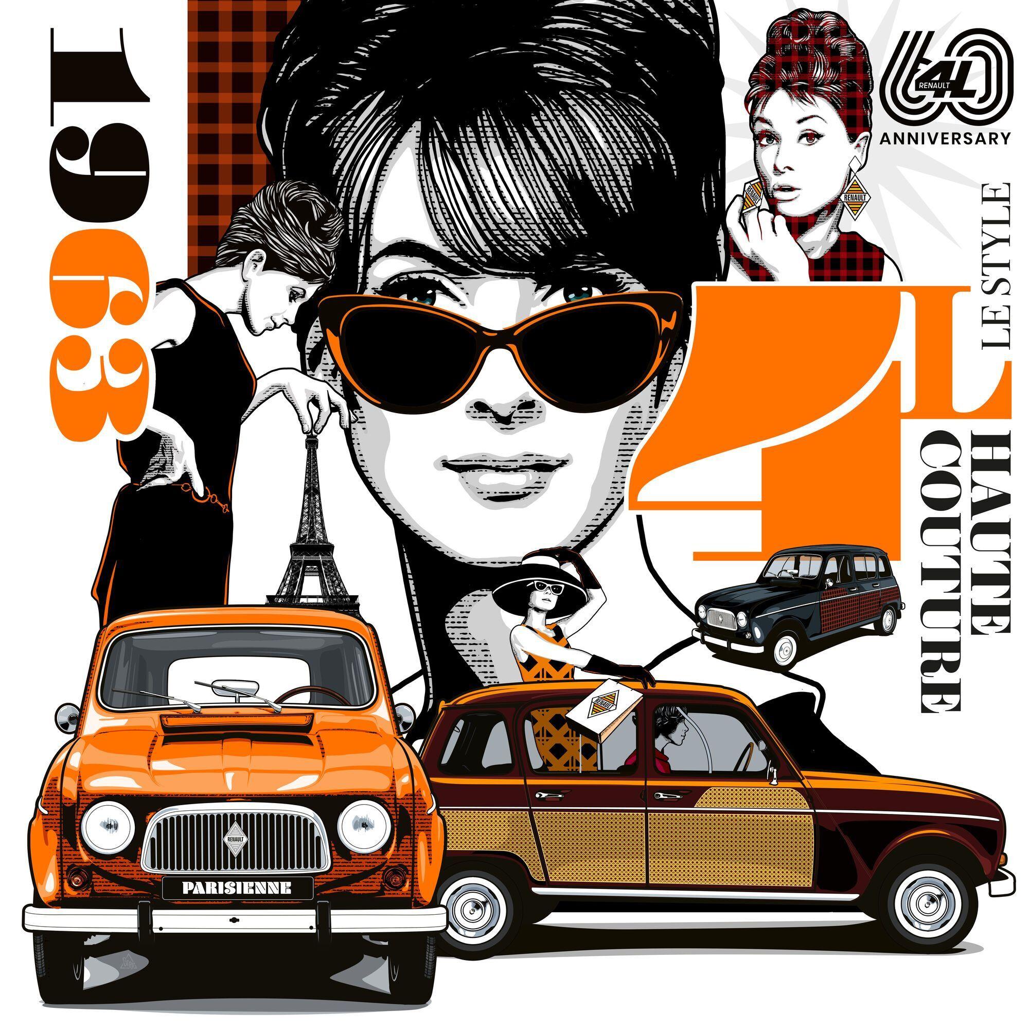 На февраль намечена онлайн-встреча с дизайнером Грегом, который создал более десятка эксклюзивных иллюстраций с Renault 4L