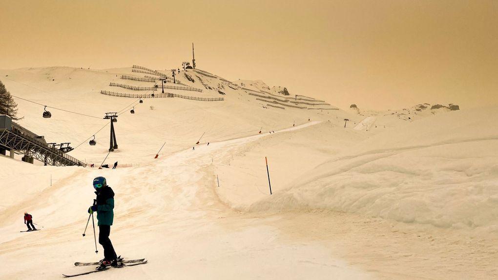 Цветная лыжная трасса