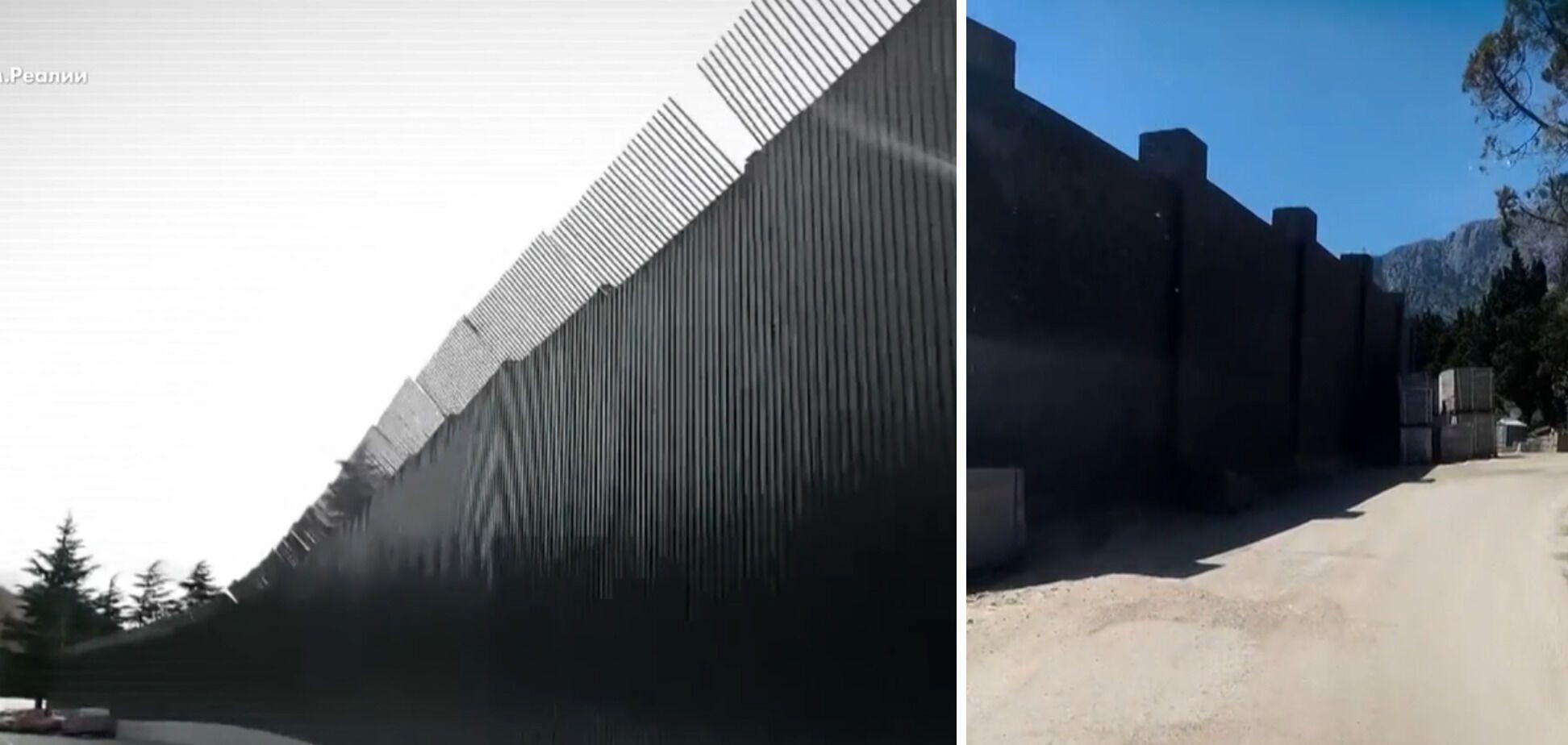 """Забор, которым огорожена территория """"крымской дачи"""" Путина, достигает 6 м"""