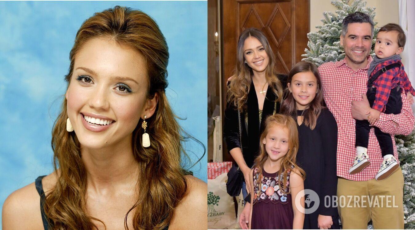 Джессика Альба в молодости и сейчас