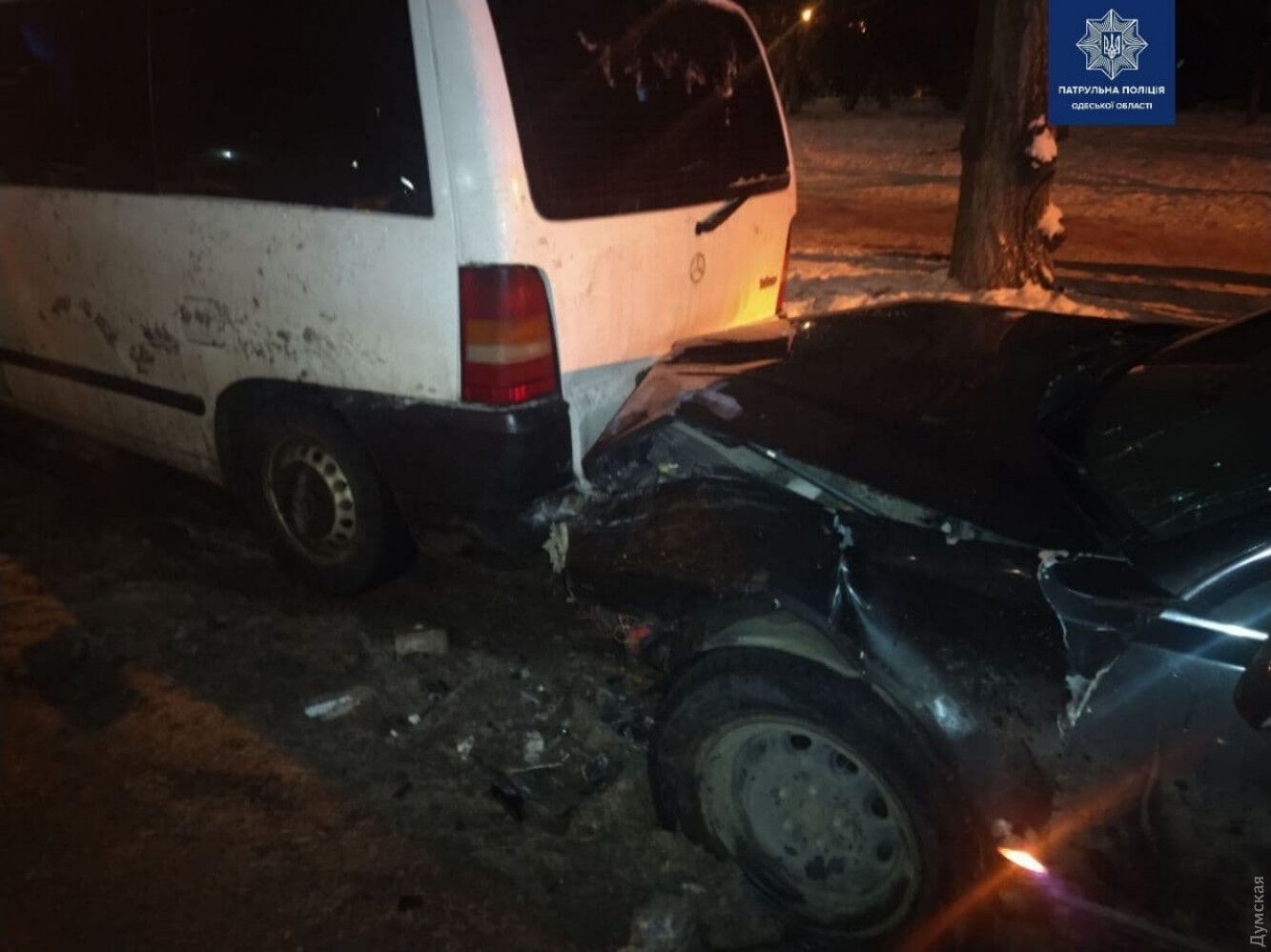 В ДТП пострадали семь машин.
