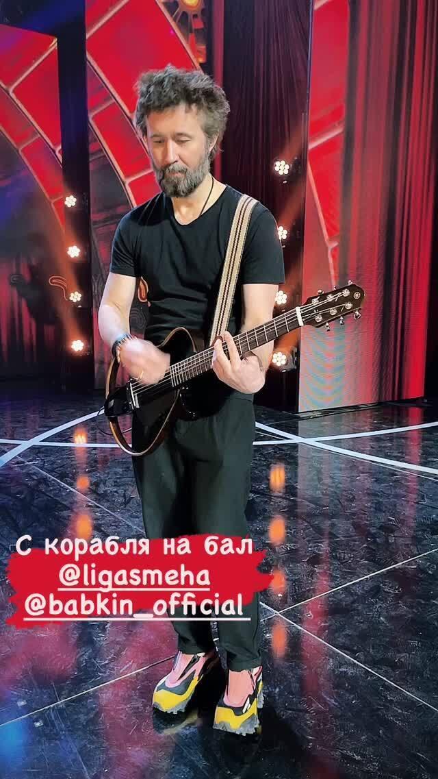 """Сергій Бабкін на репетиції """"Ліги сміху"""""""
