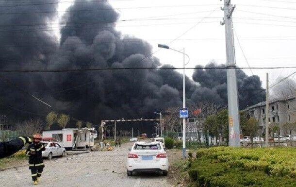 Завод в Китае, где произошел взрыв