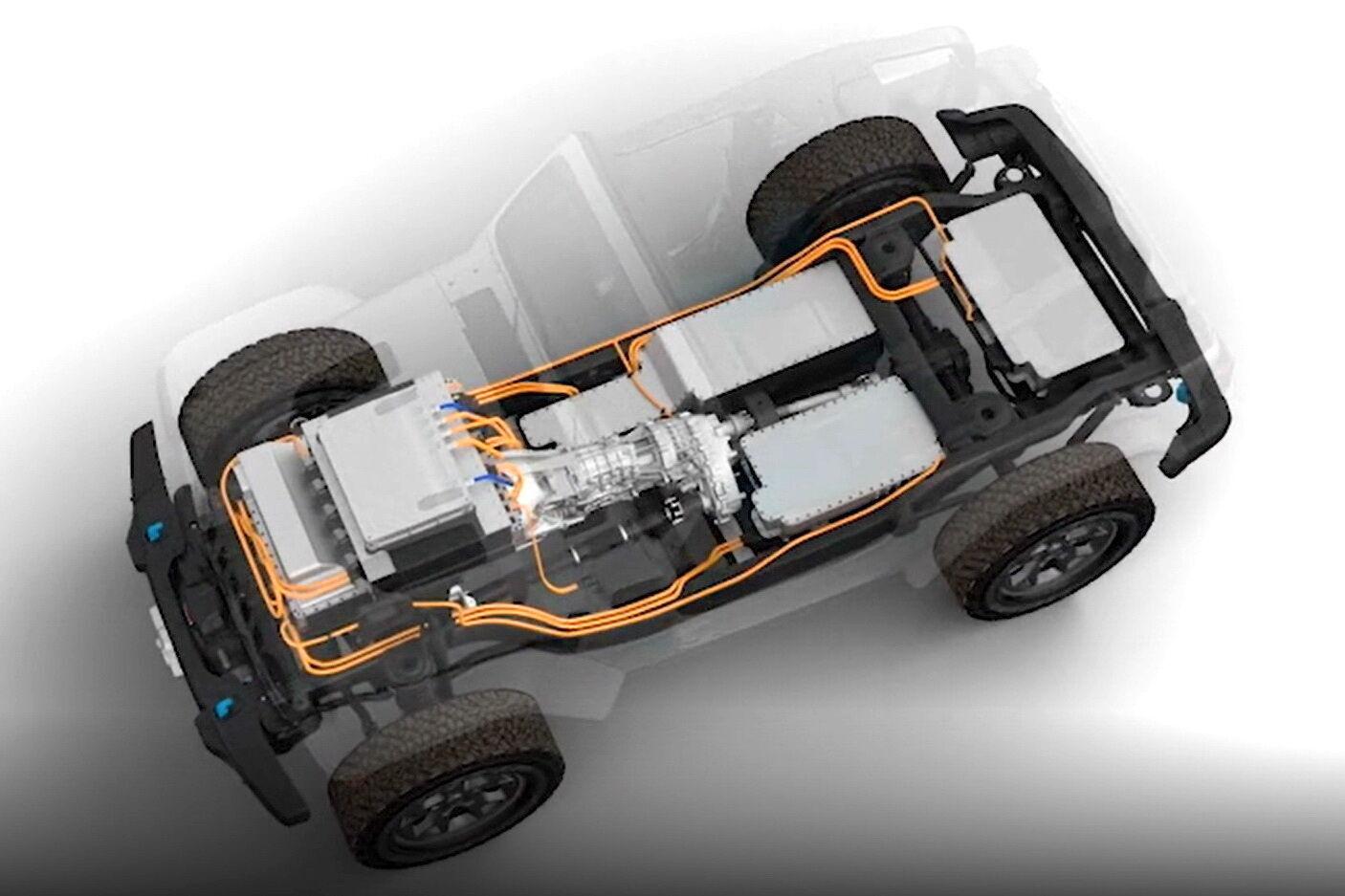 Jeep Wrangler EV буде побудований на короткобазной платформі