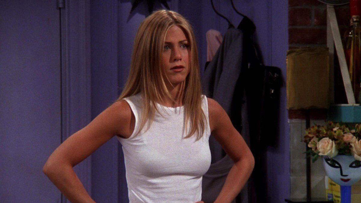 """Кадр из сериала """"Друзья"""", где Энистон играла ключевую роль."""