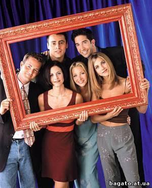 """Заставка сериала """"Друзья"""", где Энистон сыграла роль официантки."""