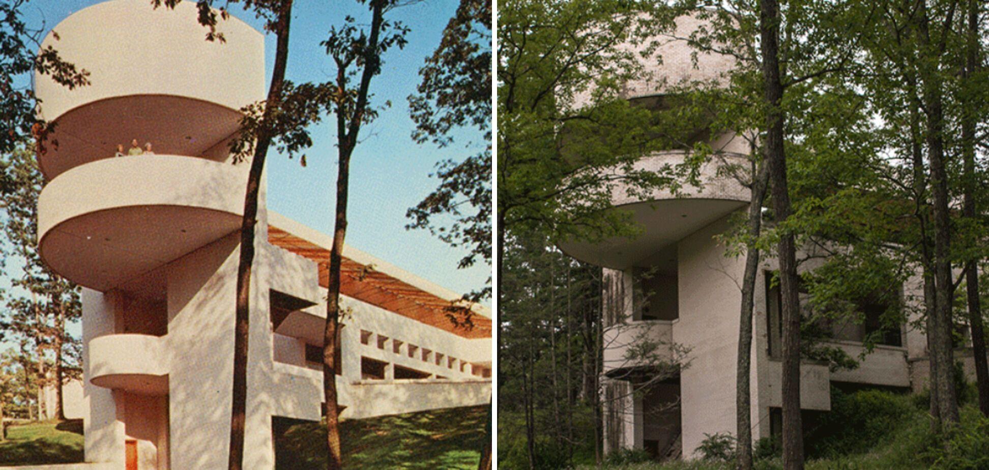 После того, как пожар уничтожил главное здание курорта в районе Поконос, в начале 70-х его заменили