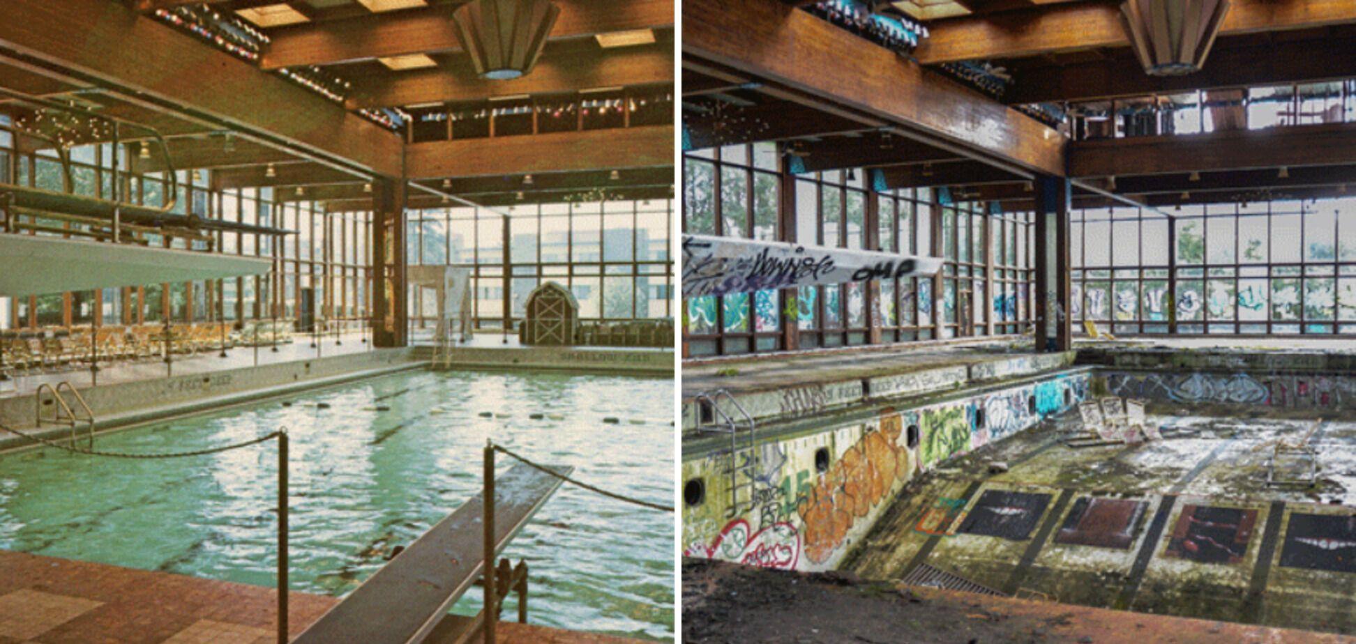 Крытый бассейн в Grossinger, который открылся в 1958 году