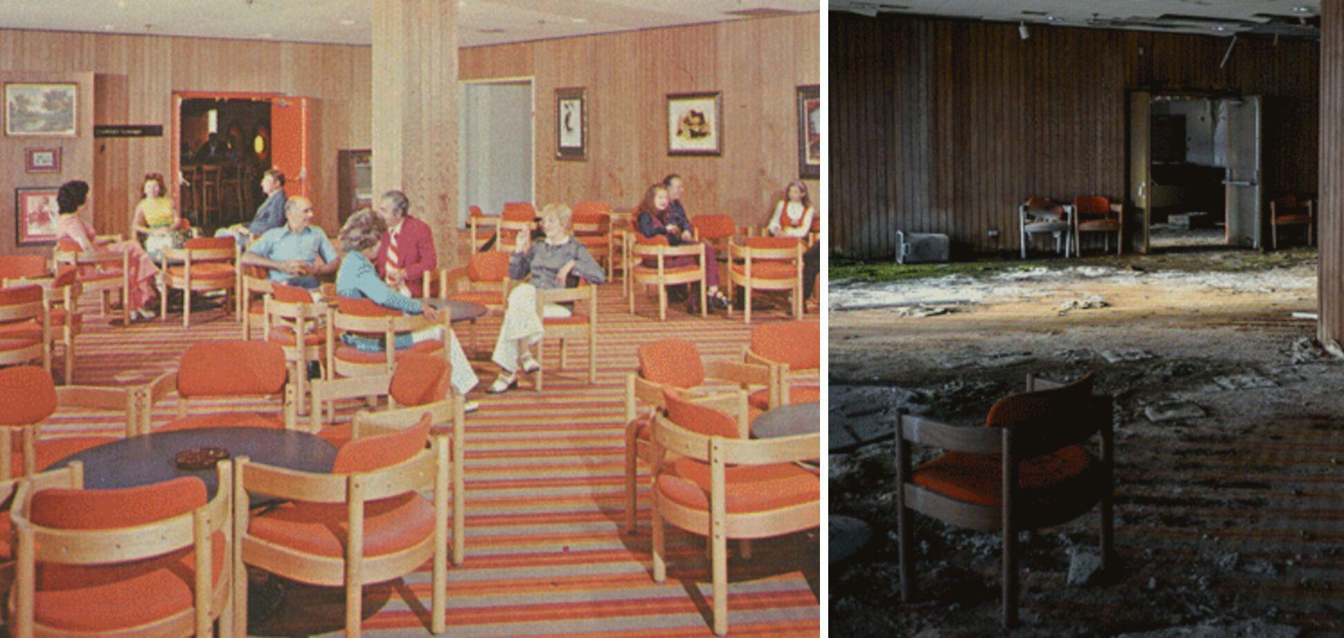 Коктейль-бар на ныне несуществующем курорте в Поконосе