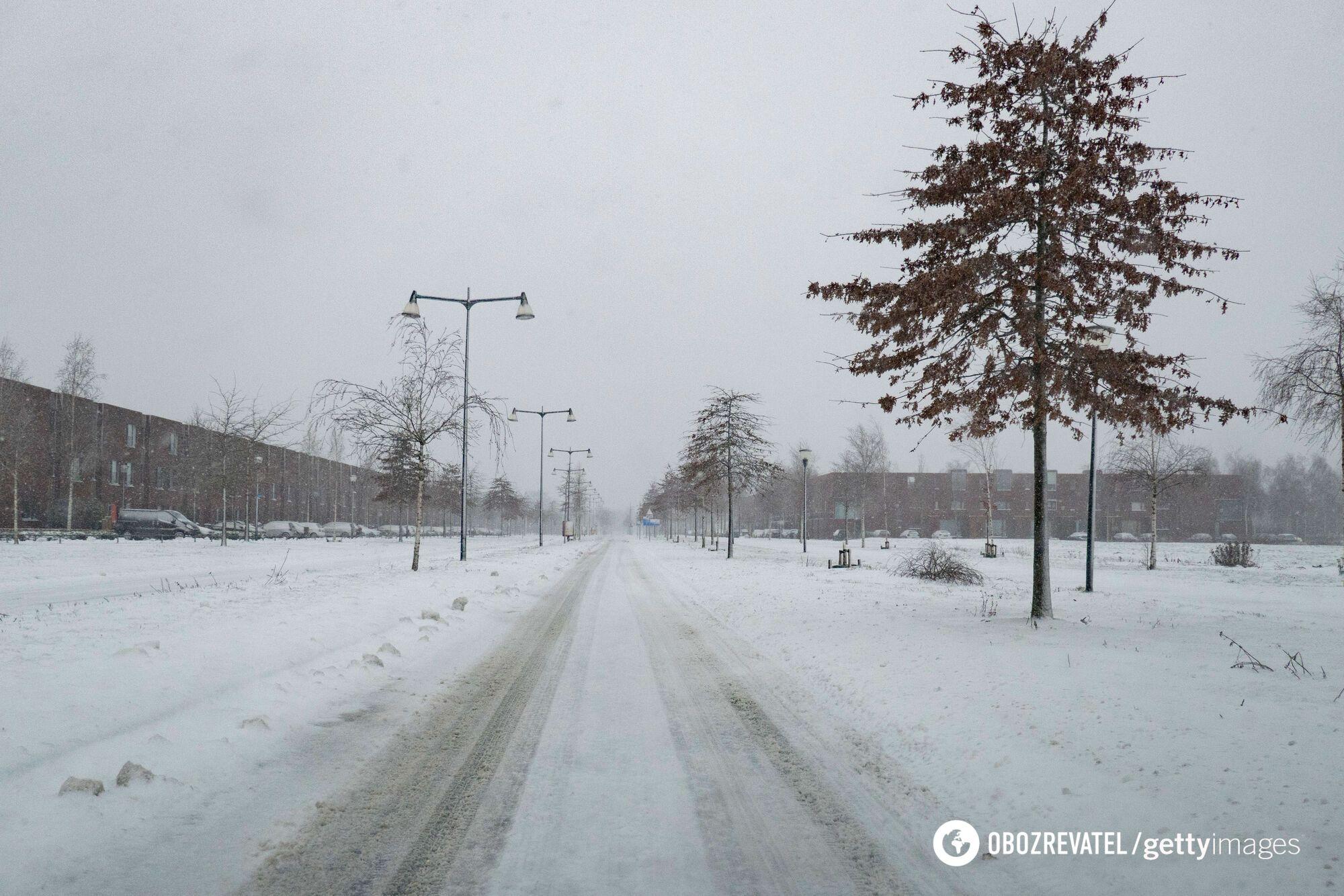 Снігопад у Нідерландах.