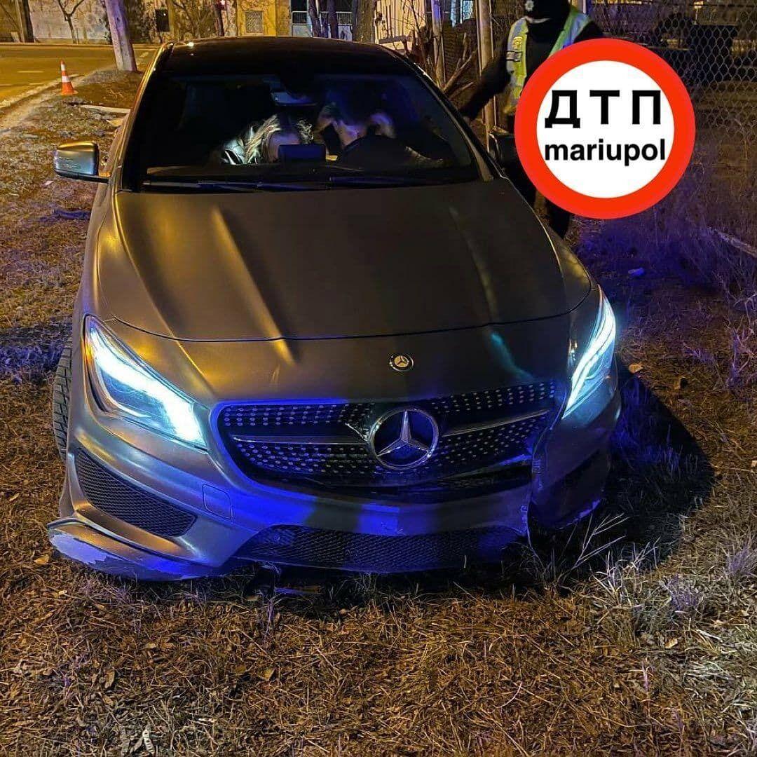 Mercedes Вакули після зіткнення