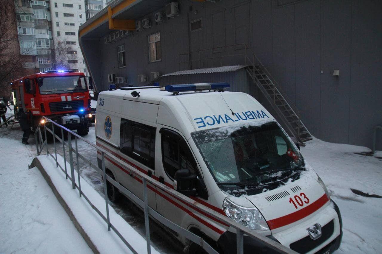 На місці пожежі працювали медики