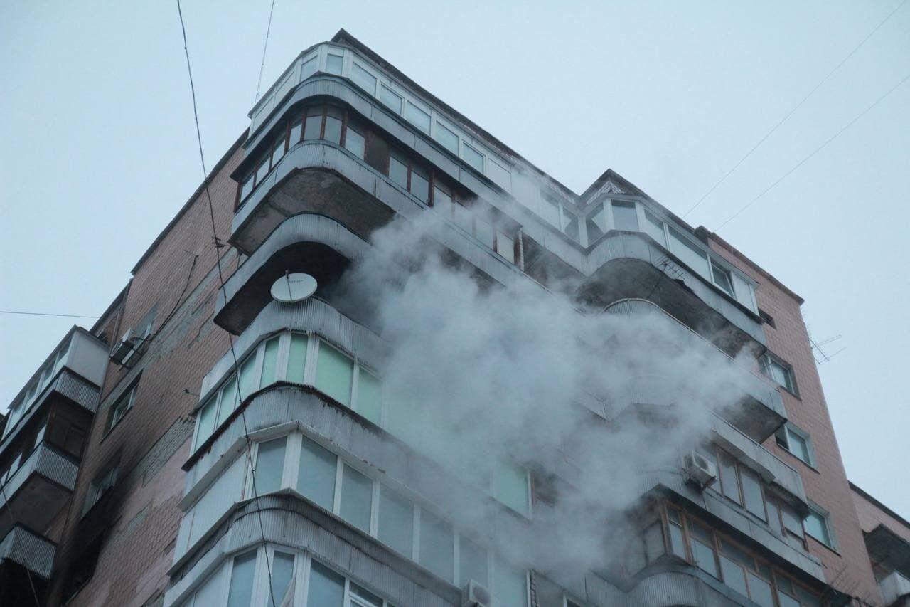 Пожежа в багатоповерхівці Харкова