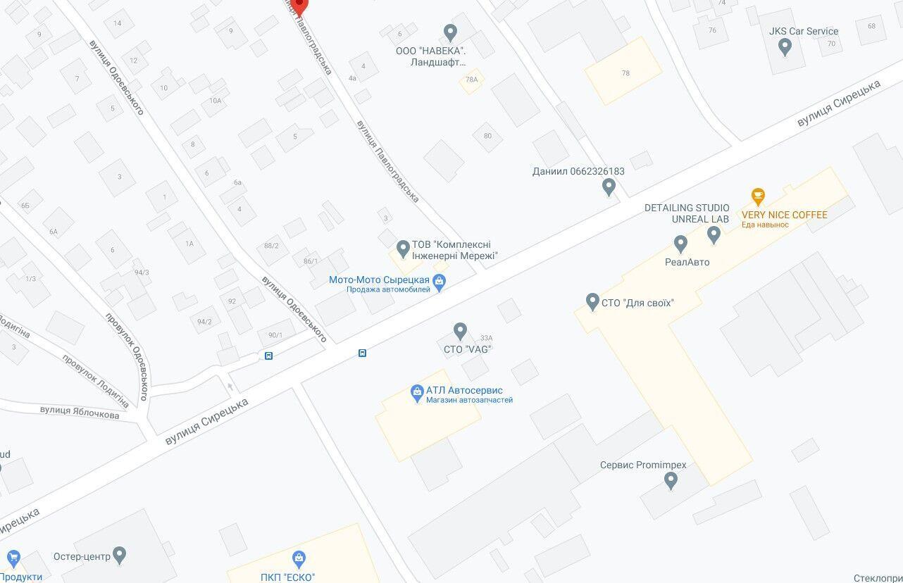 Авария произошла на пересечении улиц Сырецкая и Павлоградска.