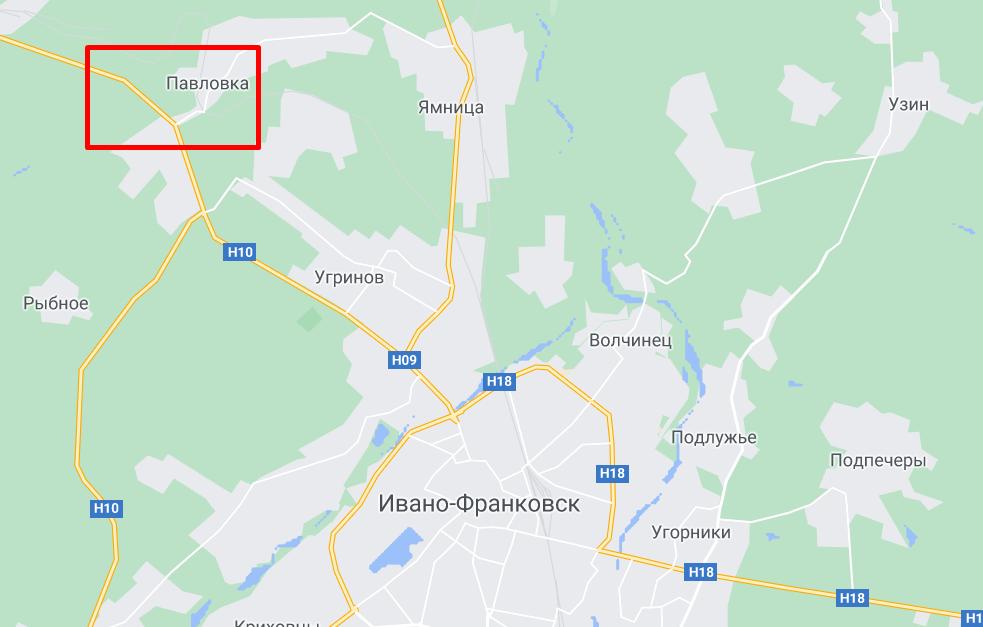 Село Павлівка в Івано-Франківській області.