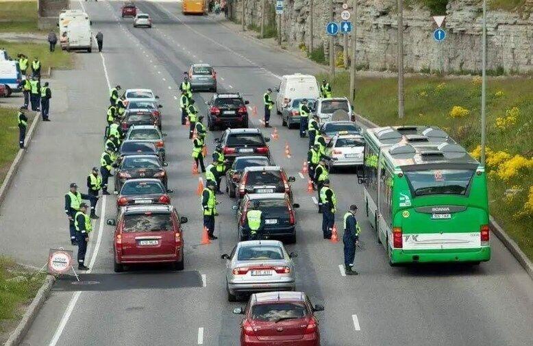 Рейд по выявлению пьяных водителей в Эстонии.