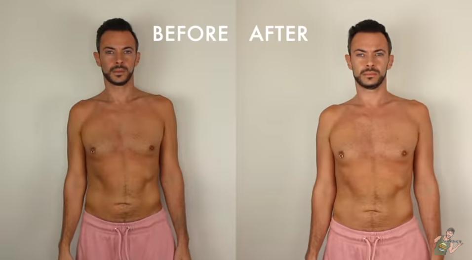 Фото до и после диеты.