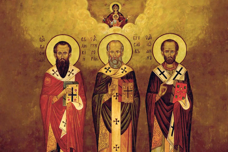 Василь Великий, Григорій Богослов і Йоан Золотоустий зробили особливий внесок у становлення і розвиток християнської Церкви