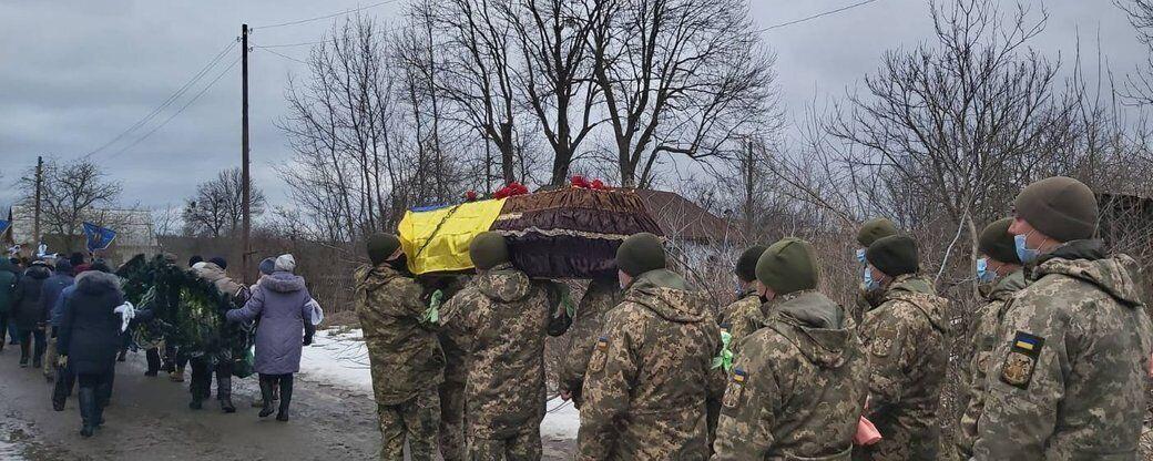 Прощание с погибшим воином