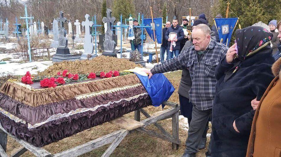 Прощание с погибшим воином Сергеем Сорочинским