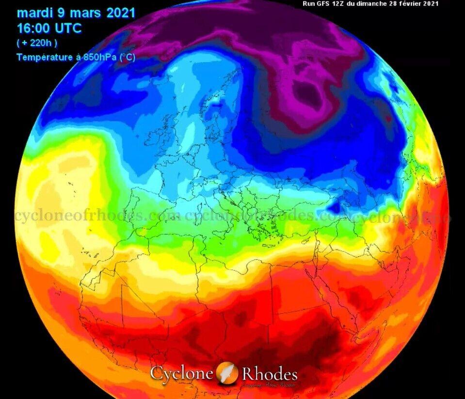 Зміни температури повітря в березні в Україні та загалом у Європі