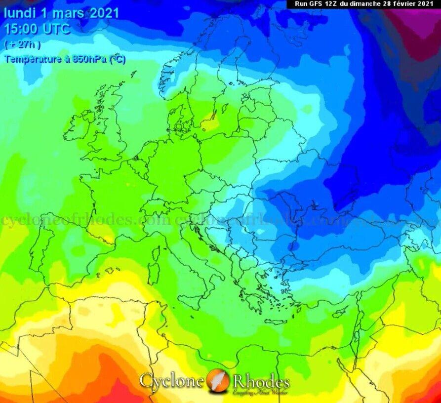 Зміни температур в Україні